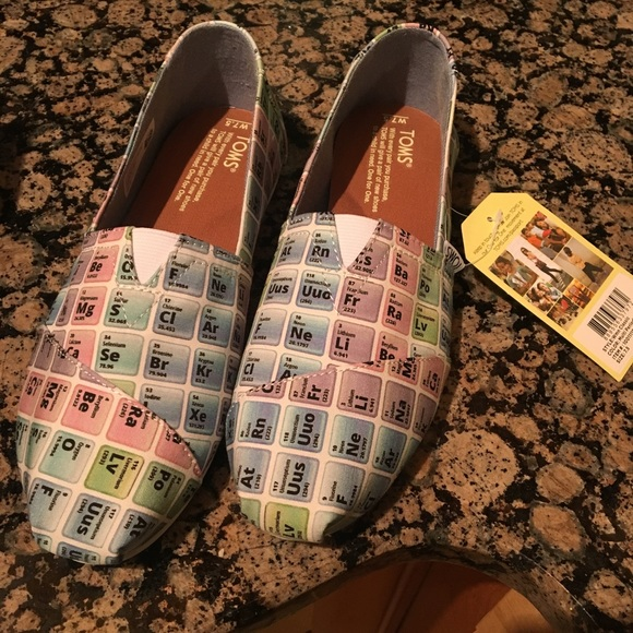 Toms Shoes New With Tags Periodic Table Poshmark